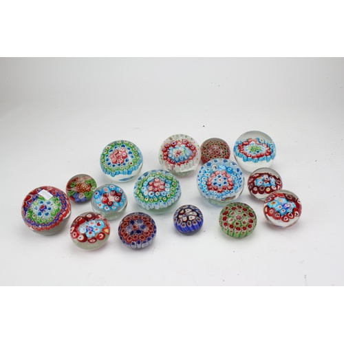 220 - A quantity of Millefiori glass paperweights....