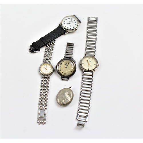 80 - A collection of watches including a silver cased locket....