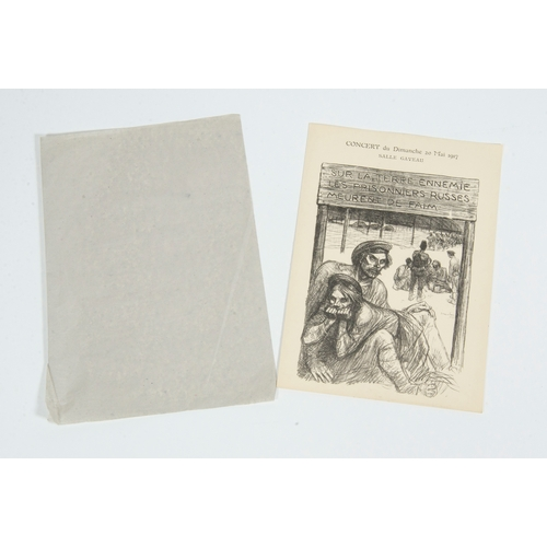 51 - Theaphilip steinlen concert for the Russian prisoners, theatre programme published by imp.eug.vernea...