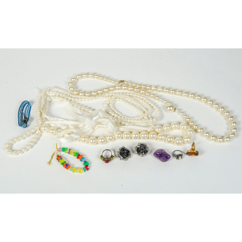 18 - A Quantity of Costume Jewellery including a pearl necklace....