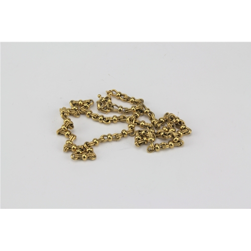 21 - A Gold coloured Victorian style chain.