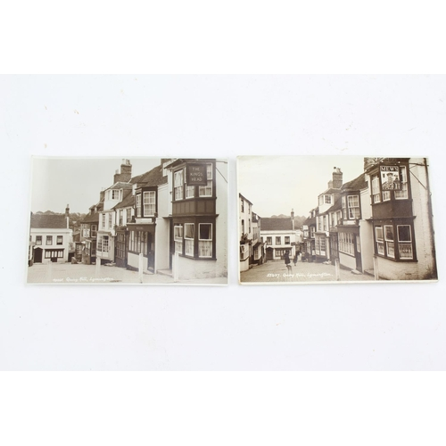 326 - 2 Scarce 1950's Post Cards of Lymington on Quay Hill (Cobbles). One written on dated 1959 & the othe...