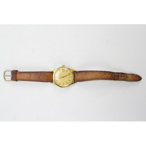 45 - A gentleman's eterna/matic wrist watch, with date and second hand....