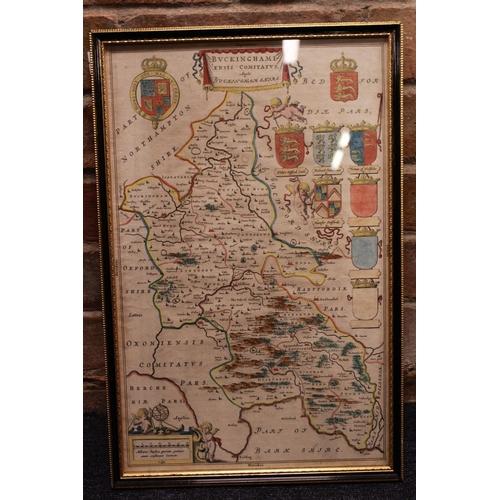 308 - An Antique map of Buckingham,