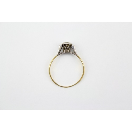 34 - A Single Stone Diamond Ring mounted in Gold. Size: S....