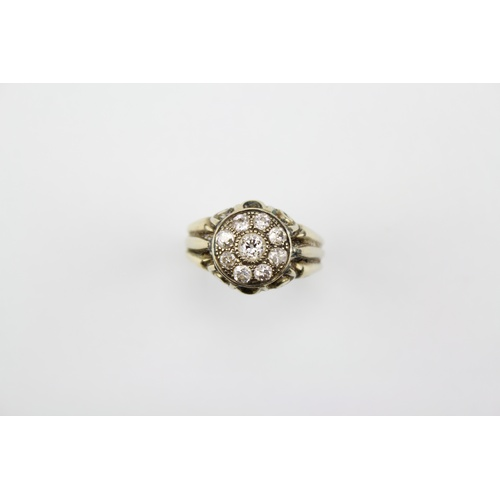 36 - A 9 stone Diamond Dress Ring. Size: P...