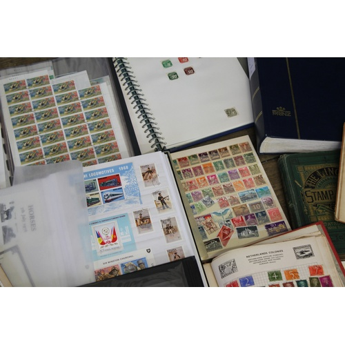 323 - A Large Collection of all world stamp albums, stock boxes old and new. Needs Viewing....