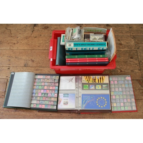 325 - A Large Box of Stamps to include 7 Albums plus various loose. Needs Viewing....