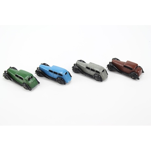 430 - 4 x Dinky Cars to include: 2 x 36a Armstrong Siddeley's, a 30c Daimler & a 36c Humber, All in Fair t...