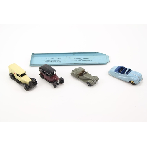431 - 4 x Dinky Models to include: 30f Ambulance, 36g Taxi, 38a Frazer-Nash, 106 Austin Atlantic & a 794 L...