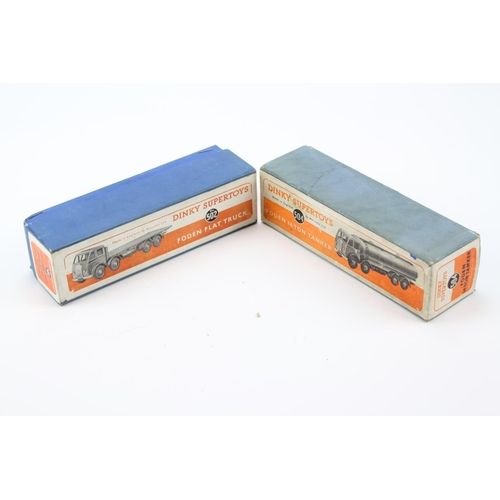 433 - 2 x Empty Dinky Boxes to include: 502 - Foden Flat Truck & 504 - Foden Tanker. Both Good/Excellent O...