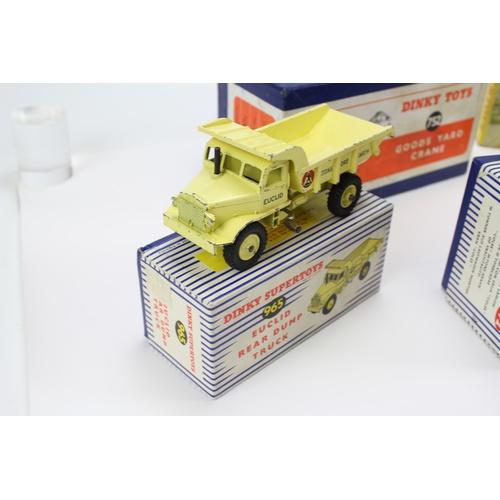 449 - 4 x Dinky Models to include: 972 - Coles Crane, 964 - Elevator Loader, 752 - Goods Yard Crane & a 96...
