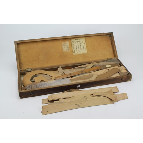 71 - A set of teak cased Draftsman Servers marked Aero 1925 - 1941....