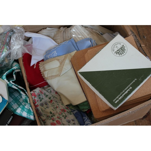 85 - A large quantity of table clothes, cased cutlery, napkins, canteen, table ware, etc....