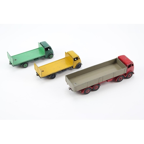 10 - 3 x Dinky Models to include: 501 - Foden 8 Wheel Wagon in Red & Fawn, 2 x 513 - Guy Flat Truck with ...