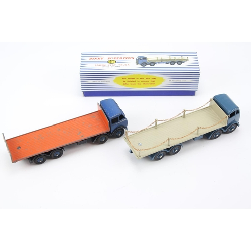12 - 2 x Dinky Models to include: Restored 905 - Foden Flat Truck with Chains in reproduction box along w...