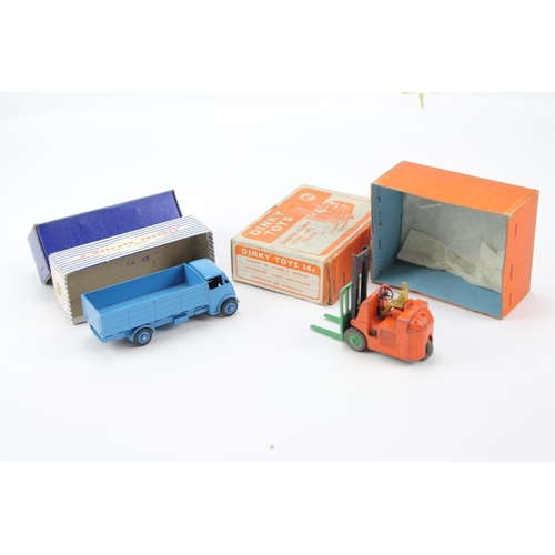 13 - 2 x Dinky Models to include: 14c - Fork Lift Truck in Original Box along with a 911- Restored Guy 4-...