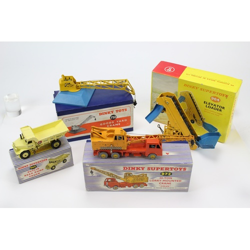 17 - 4 x Dinky Models to include: 972 - Coles Crane, 964 - Elevator Loader, 752 - Goods Yard Crane & a 96...
