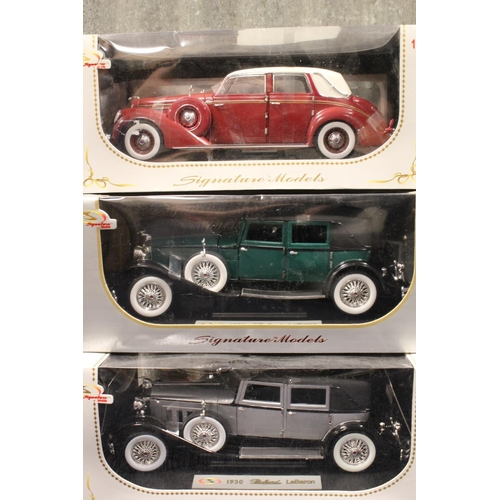 33 - A Collection of 6 x 1/18th scale Signature models all in Near Mint/Mint Condition with Excellent Box...