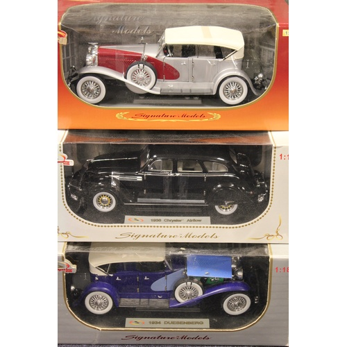 34 - A Collection of 6 x 1/18th scale Signature models all in Near Mint/Mint Condition with Excellent Box...