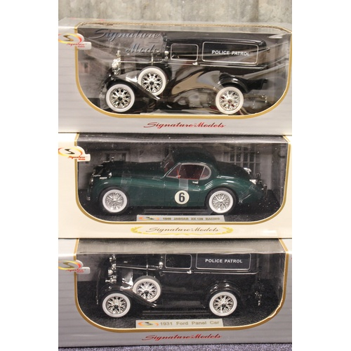35 - A Collection of 6 x 1/18th scale Signature models all in Near Mint/Mint Condition with Excellent Box...
