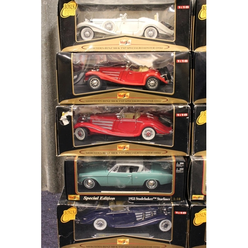 39 - A Collection of 10 x 1/18th scale Maisto models all in Near Mint/Mint Condition with Fair to Excelle...