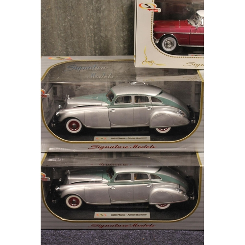 40 - A Collection of 5 x 1/18th scale Signature models all in Near Mint/Mint Condition with Excellent Box...