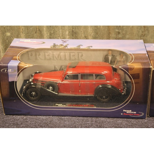 42 - 2 x Premier Miniature Signature Models, 1/18th Scale to include a 1938 Mercedes 770K & a 1937 Maybac...