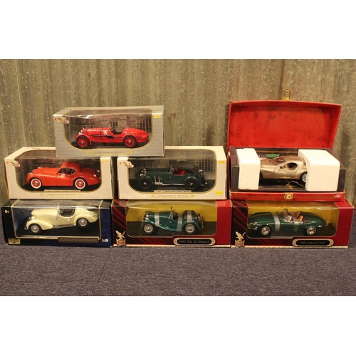 44 - 7 x 1/18th scale models to include: 3 x Signature Models, 1 x Guiloy, 1 x Ricko, all Mint with Good/...