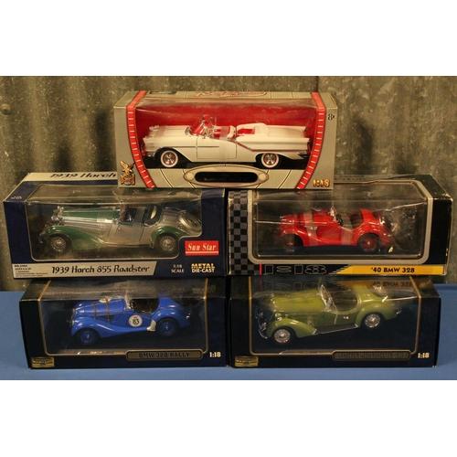46 - 5 x 1/18th scale models to include: 2 x Ricko Models, 1 x Sunstar models & 2 x Road Signature Models...