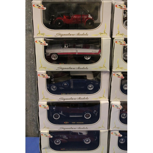56 - 15 x 1/32nd Signature Models, all Mint with Excellent Original Boxes....