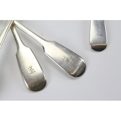 90 - A Silver set of fiddle pattern cutlery, 9 desert & 5 tea spoons....