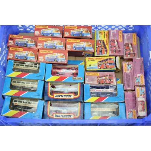 29 - 35+ Boxed Matchbox Models to include: The Londoner Buses, Airport Coaches, etc. All Boxed with two t...