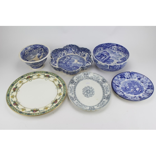 287 - Spode Copeland blue and white china woods ware fruit and serving bowls, etc....