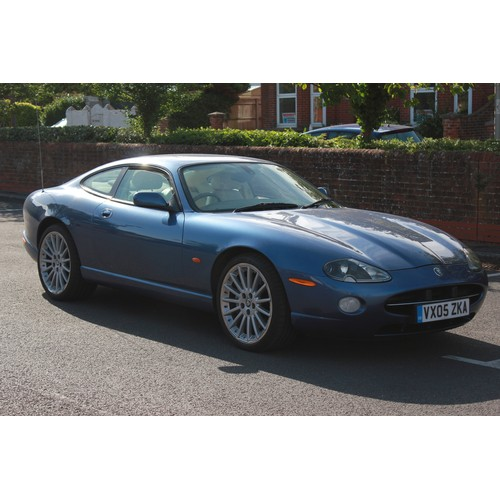 288 - A Lovely Jaguar XK8 Coupe finished in Light Blue Metallic with Cream Leather, Upgraded Wheels, Only ...