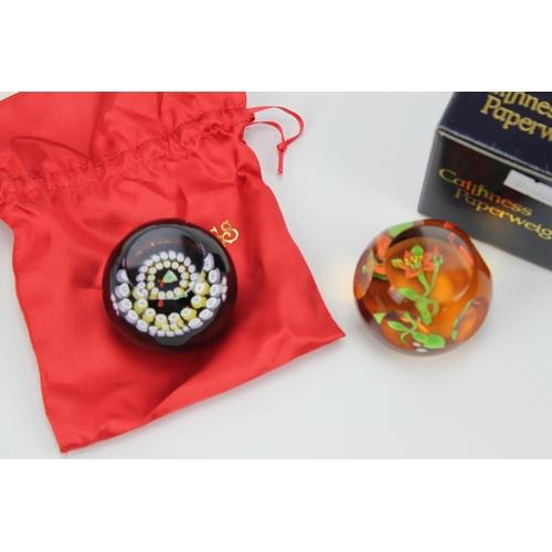381 - A Caithness miniature bell paper weight & Lilium Paper Weight....