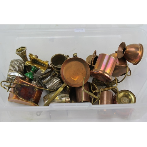 26 - A quantity of scratch built copper doll house gardening tools....