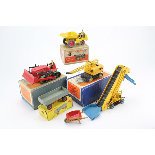 8 - 5 x Boxed Dinky Toys to include: 428 - Trailer, 561 - Blaw Know Bulldozer, 571 - Coles Crane, 562 - ...