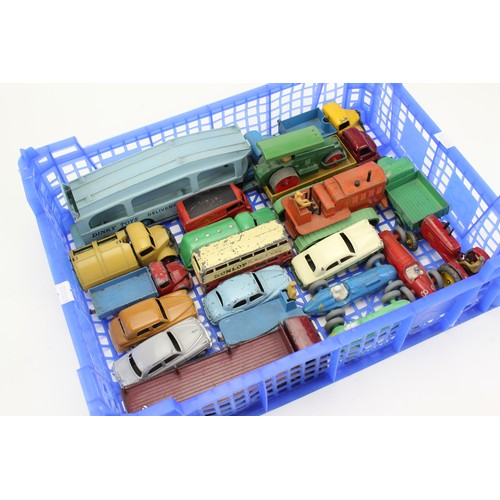 10 - A Tray of 20+ Unboxed Original 1950's Dinky models in varying conditions....