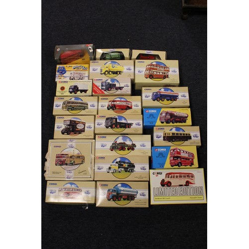 1 - A Large Box of 20+ 1990's Corgi Classic Models all in Near Mint/Mint Condition with Excellent/Near M...