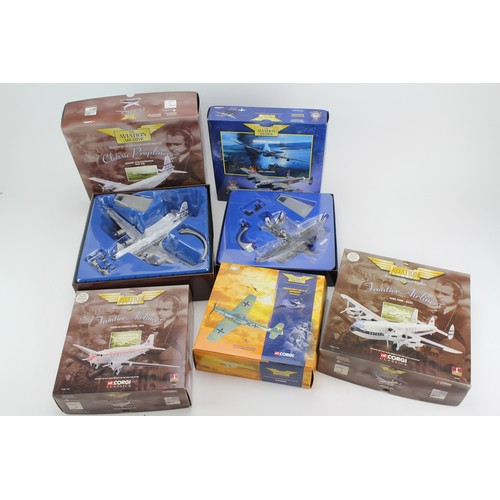 2 - A Box of 5 x Corgi Aviation Archive Planes, All appear in Mint Condition & in Near Mint Original Box...