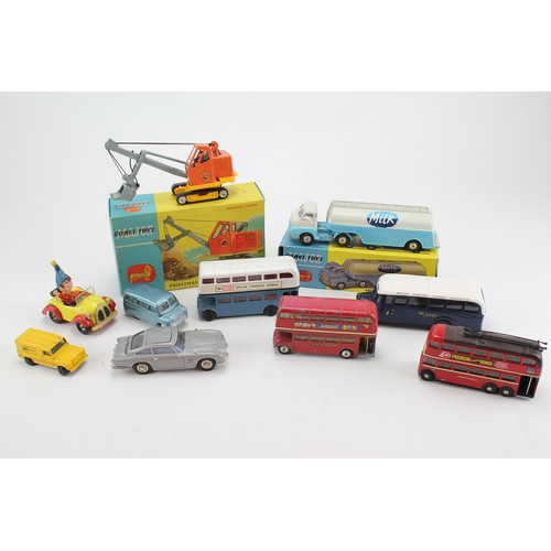 6 - A Box of Corgi Models to include a Boxed 1128 - Priestman Cub Shovel in Original Box, a Repainted Co...