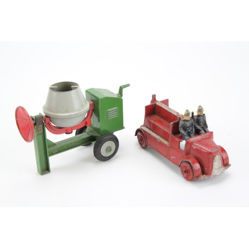 32 - A pair of 1950's models to include a Charbens Fire Engine with 2 Firemen & a D.C.M.T. Cement Mixer i...