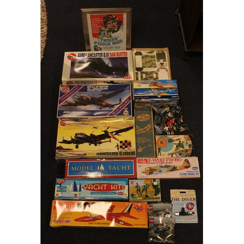 35 - A Large box of Unmade Kits to include: Airfix, Lagoon, etc....