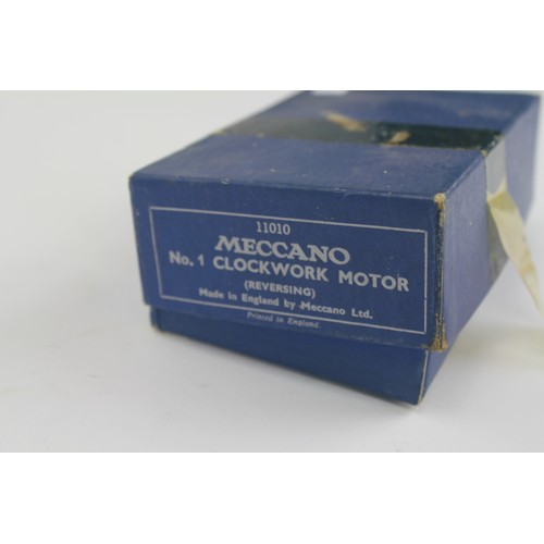 37 - A boxed Meccano No.1 Clockwork Motor. Made in England....