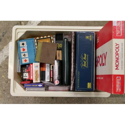23 - Monopoly trivial pursuit various card games...