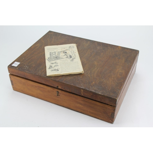 41 - An Original Wooden Box Set containing a quantity of used