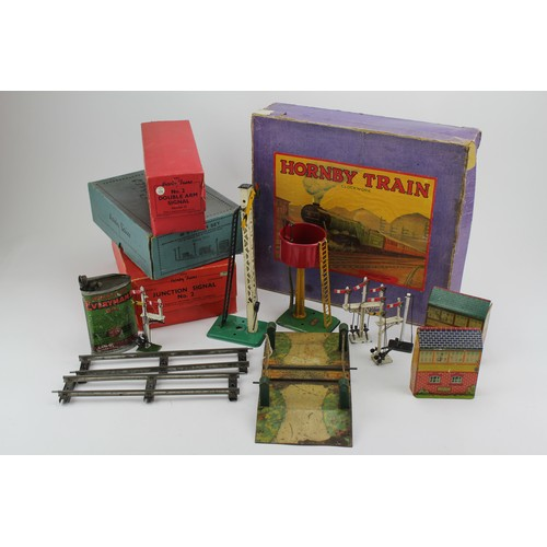 14 - A Scarce Boxed Hornby Clockwork 'O Gauge' Train Set along with Boxed Points, Boxed Station & some 'O...