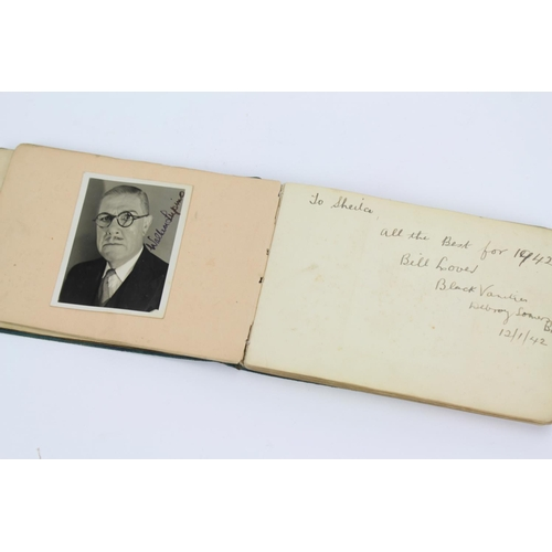 238 - An Autograph album to include signatures by Ivor Novello, Tommy Trinder, David Niven, Lupino Lane al...