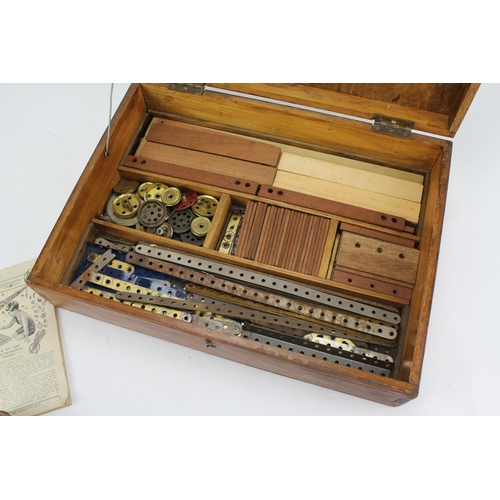 417 - An Original Wooden Box Set containing a quantity of used